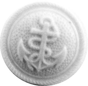 K517 white anchor design button 18mm