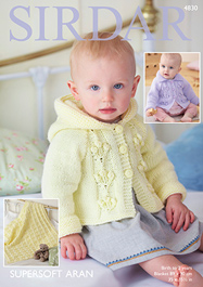 Aran jackets and blanket Sirdar 4830 Digital Download