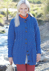 Aran cabled jacket Hayfield 7244